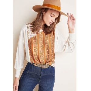 NWT-Anthropologie Sammi Sequined Top